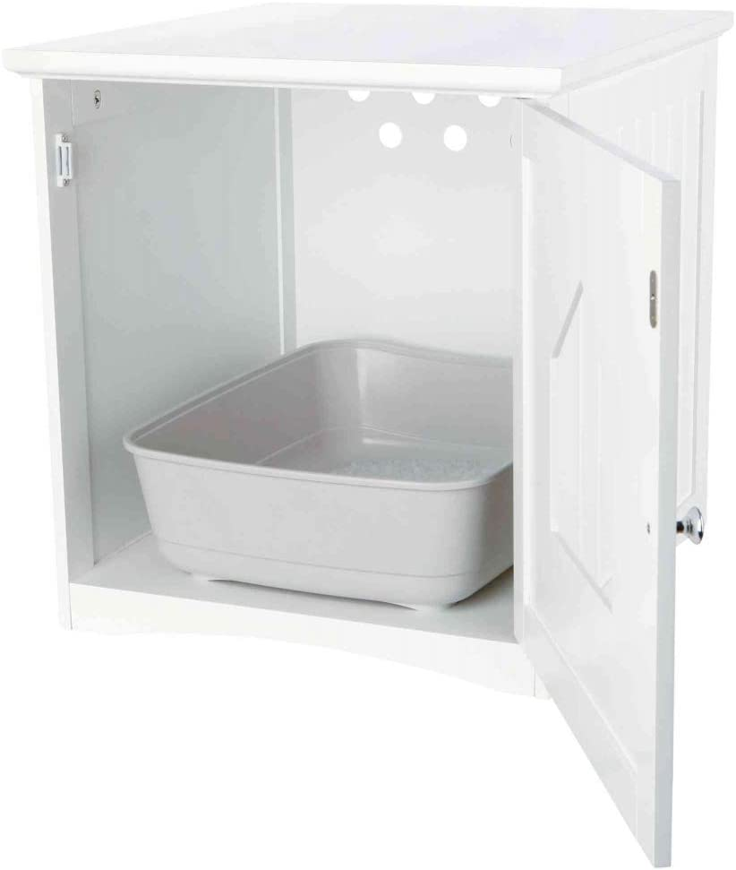 TRIXIE Mueble de Baño Cat House, 49 × 51 × 51 cm, Blanco, Gato