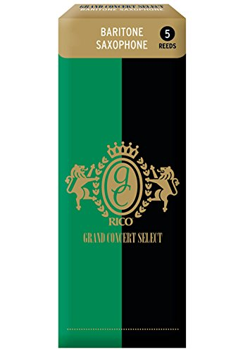 Rico Grand Concert Select Baritone Sax Reeds, Strength 3.5, 5-pack