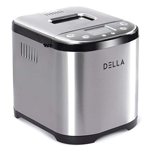 DELLA 2LB Bread Maker Machine Automatic Programmable Timer Multi Functional 3 Crust Colors w/ 15 Settings LCD Display