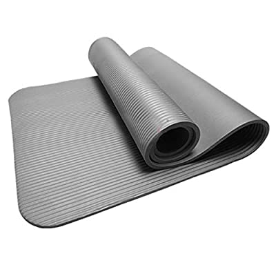 Amlaiworld 4MM Thick Durable Yoga Mat Non-Slip Exercise Fitness Pad Mat Home Work Out Equipments (Gray): Clothing