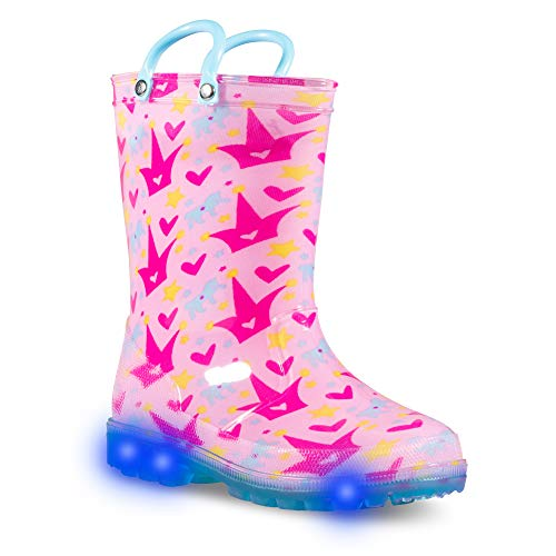 (ZOOGS Children's Light Up Rain Boots for Little Kids & Toddlers, Boys &)