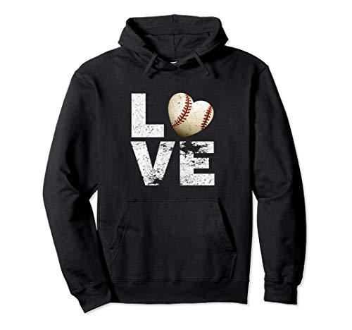 I Love Baseball Funny Hoodie Gift for Baseball Fans Lovers
