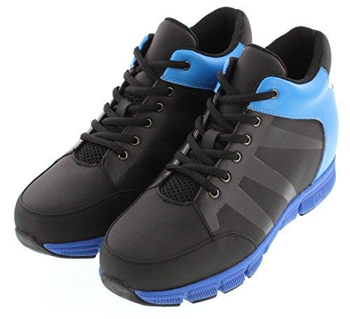 Toto X32902-3.3 Inches Högre - Höjd Öka Hiss Skor - Black & Blue Lätta Sneaker