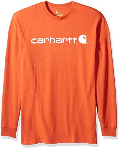 Carhartt Mens Big & Tall Signature Logo Mw Jersey Long Sleeve T Shirt