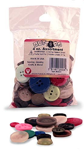 Hygloss Products Bucket O' Buttons 4 oz Bag,