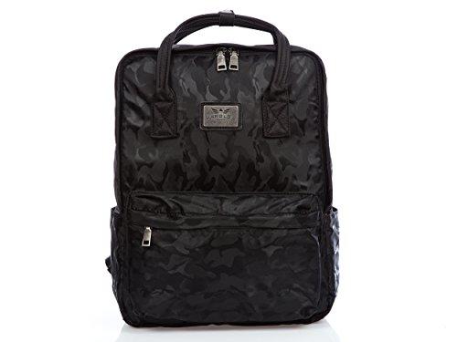 5af07b66b1307 Damen Mädchen Tasche Handtasche mit Freizeit Rucksack Flecktarn schwarz neu  A4 ...