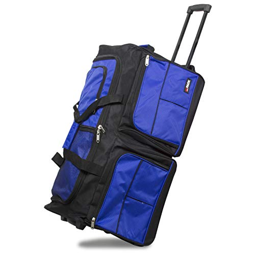 Hipack 28-inch Carry-on Rolling Duffle Bag Duffel, Blue, One Size