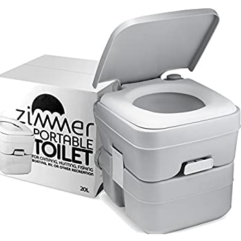 Zimmer Comfort Portable Toilet 5 Gallon Capacity  RV Toilet With Detachable  Tanks  Durable Leak. Amazon com  Zimmer Comfort Portable Toilet 5 Gallon Capacity  RV
