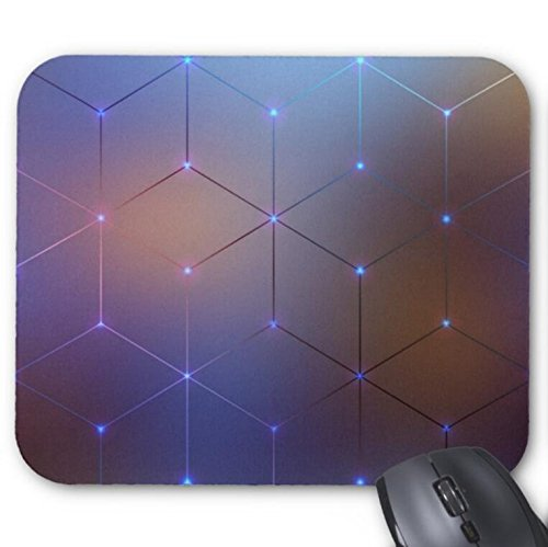 Mousepad Blur Background Spectrum Electromagnetic Print Mouse Mat 11.8 X 9.8 In (Electromagnetic Cat)