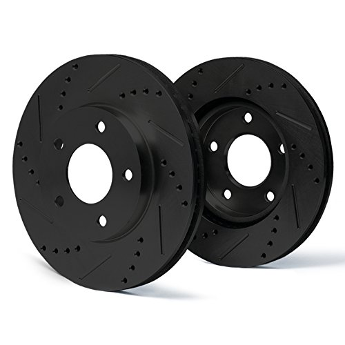 Max Brakes Rear E-Coated Slotted Drilled Rotors Elite Brake Rotors SY018082 | Fits: 1998 98 1999 99 Chrysler Sebring Lxi Coupe - Coupe 2000 Chrysler Lxi Sebring