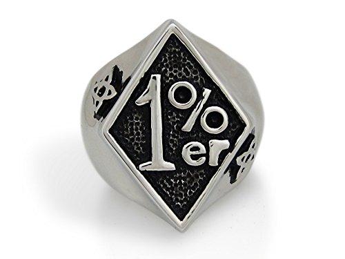 The Biker Metal 316L Stainless Steel Classic 1% ER Ring for Harley Rider Motor Biker TR-139 (12)