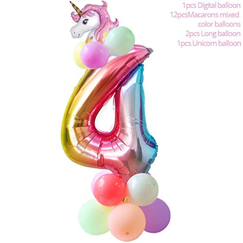 50Pcs Wedding Birthday Party Sweet Cellophane Clear Candy Cone Storage Bags Unicorn Party Decor Easter Decoration 18X37Cm,16Pcs Balloon Set4 -