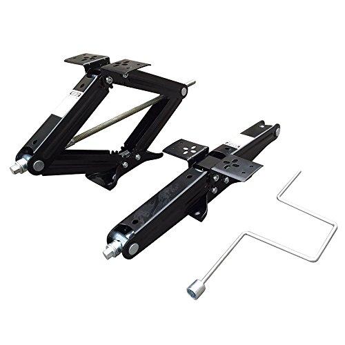 - 2pcs 5000Lb Scissor Jack 24'' Lift Leveling Floor Jacks with Crank Handle for RV Trailer Camper