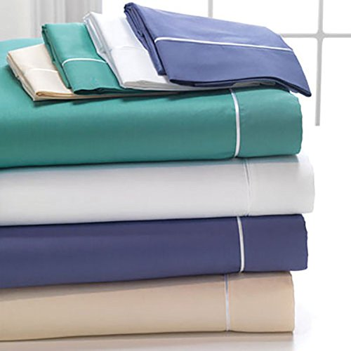DreamFit 2-Degree 260 Thread Count Choice Natural Cotton Sheet Set, Split King, White by DreamFit