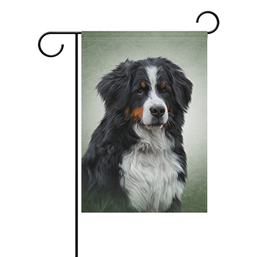 My Daily Bernese Mountain Dog Vintage Decorative Double Sided Garden Flag 12 x 18 inch - Bernese Mountain Dog Garden Flag