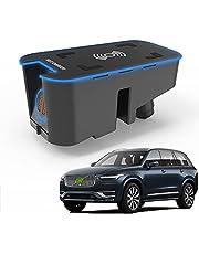 2021 Uppgradering Trådlös Bil Laddare Tillbehör Qi 15w Max för Volvo Xc90 Xc60 V90 V60 S90 S60 2016-2021 Alla Modeller, Med 18w Usb-portar för Iphone 12/11 / Xs/X Samsung S20 / S10