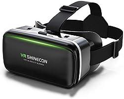 【2020令和 VRゴーグル】 VRヘッドセット VRヘッドマウントディスプレイ 3D スマホVR モバイル型 瞳孔/焦点調節 非球面光学レンズ 4.7~6.5インチスマホ ブルーライトカット 眼鏡対応 1080PHD高画質...