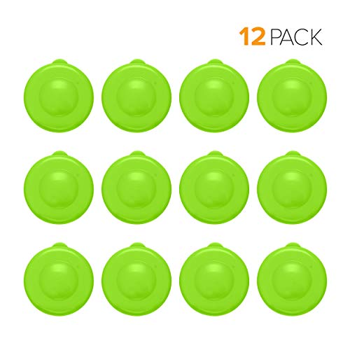 Brio Dew Cap Crown Top Replacement Cap - 12 Pack - 55mm Snap On Cap for Crown top lids for 3 & 5 Gallon Water Bottles (Light Green) (Recyclable Water Jug)
