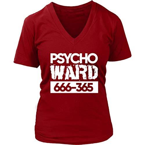 InGENIUS Funny Shirts Psycho Ward T-Shirt - Crazy Mad Tshirt - Halloween Costume - Womens Plus Size up to 4X