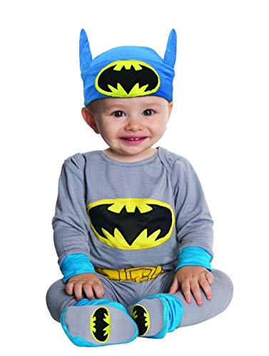 Rubie_s DC Comics Gray Batman Onesie And Headpiece  Gray  Newborn from Rubie's
