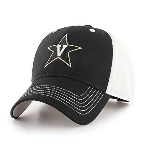 NCAA Vanderbilt Commodores Sling OTS All-Star MVP Adjustable Hat, Black, One Size