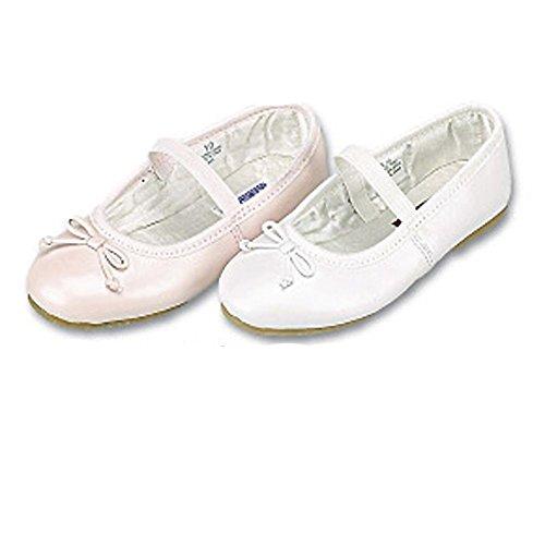 Ballet Shoes White Lamour Girls (Toddler Girls Cute White Bow Slipper Dress Shoes 9)