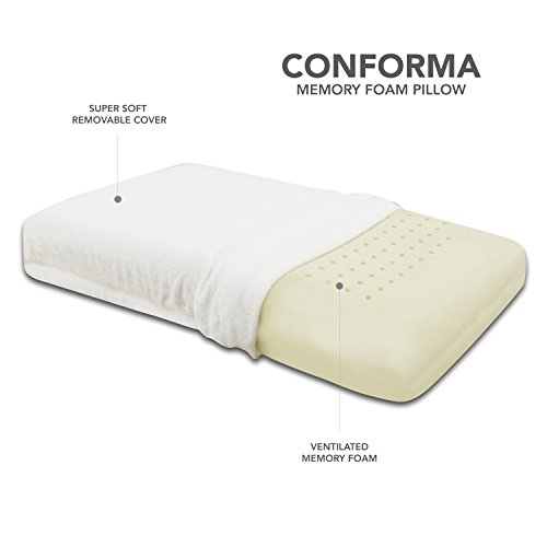 Classic Brands Conforma Ventilated Memory Foam Cushion Firm Pillow, King