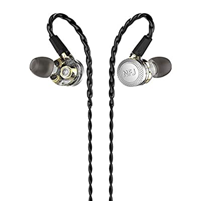 hellodigi N300 PRO in Ear Earphone, 3 Dynamic Driver Earbuds with Microphone, Detachable MMCX Cable Headsets, Heavy Bass Recommended