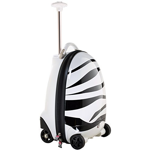 Price comparison product image Rastar Kids Rolling Luggage Zebra-Remote Control Suitcase - BIG SALE-Last Ones!
