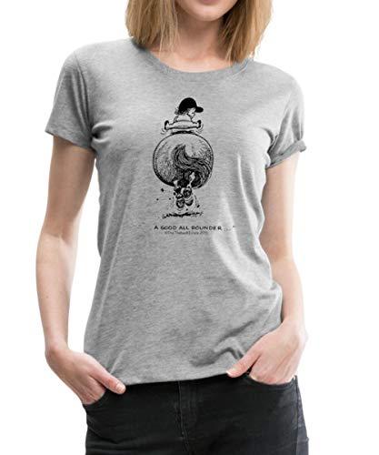 Spreadshirt Thelwell Cartoon Pony Gallop Women's Premium T-Shirt, M, Heather Gray ()