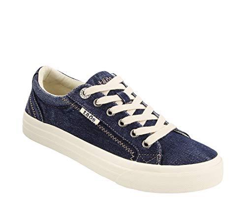 Taos Footwear Women's Plim Soul Blue Denim Sneaker 9 M - Denim Sneakers