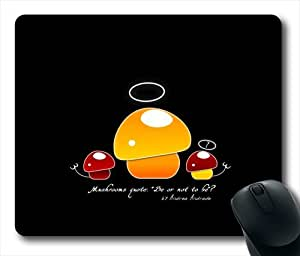 Mushrooms Quote Oblong Shaped Mouse Mat