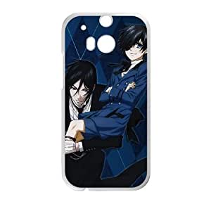 Black Butler HTC One M8 Cell Phone Case White