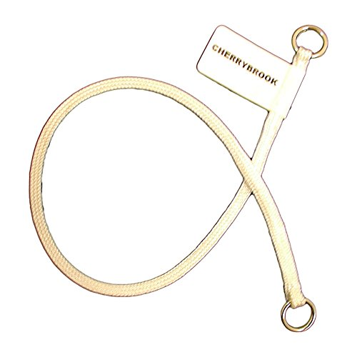 (Championship MEDIUM Show Nylon Choke Collar by Cherrybrook (14 inch White))
