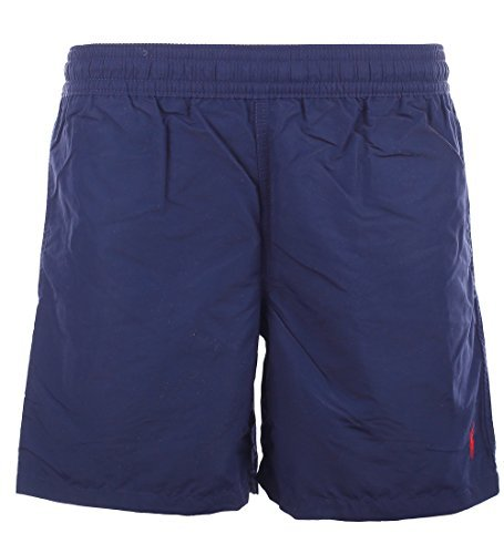 Polo Ralph Lauren Mens Logo Shorts Swim Trunks (Newport Navy, - Ralph Lauren Navy Blue Polo