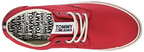 611 Sneaker Rojo Hombre Tommy Para Textile Zapatillas tango Jeans Red 4xqfAvwg