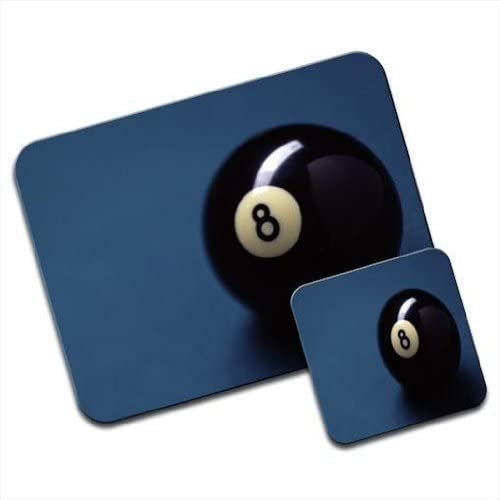 Lucky Magic Black de bolas de billar número 8 Premium Mousematt y ...