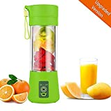 AUFELL [Upgraded version] Personal Blender, Portable Juicer Cup/Electric Fruit Mixer/USB Juice Blender, Rechargeable, Six Blades In 3D For Superb Mixing, 380mL