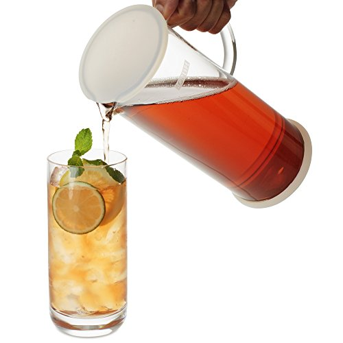 FORLIFE LUCENT Glass Iced Tea Jug with Capsule Infuser, 48-Ounce, Frost by FORLIFE (Image #5)