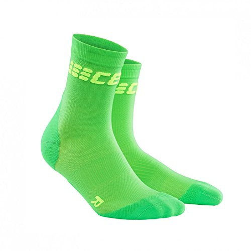 CEP Men's Dynamic+ Cycle Ultralight Short Socks (Viper/Green) Size: IV