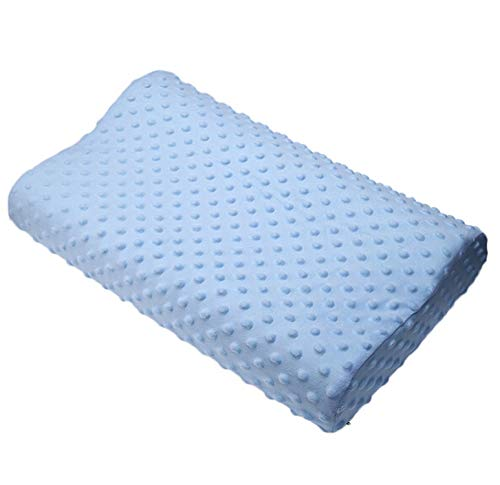 Memory Foam Pillow 3 Colors Orthopedic Pillow Latex Neck Pillow Fiber Slow Rebound Soft Pillow,Blue,50x30cm