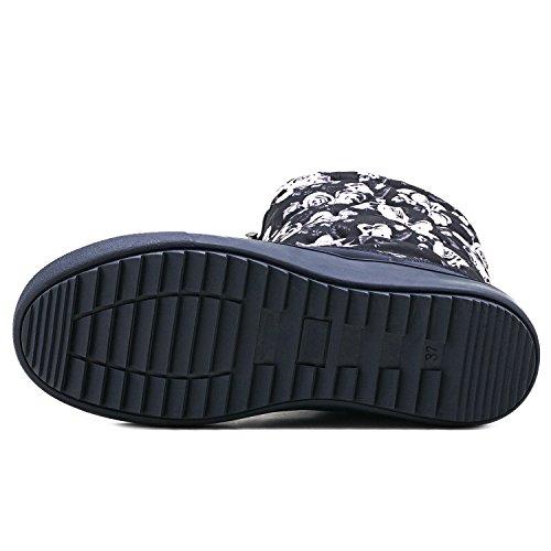 Invierno Patr Zapato H7624 con Mujer se de de Zapatos Ajustar Ancho El Botas Puede de Shenji Cremallera del Nieve 8TxnUwIx