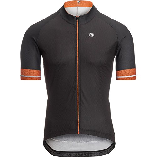 Giordana Lungo Jersey - Men's Black/Orange, -