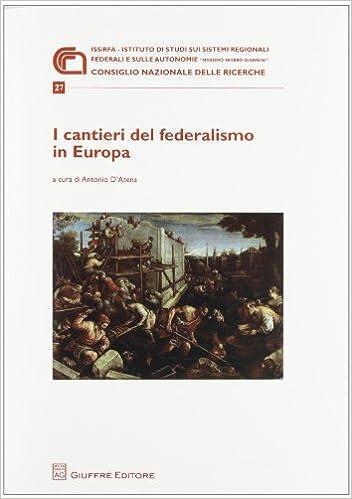 Book I cantieri del federalismo in Europa