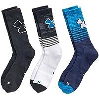 Under Armour Boy`s UA Phenom Crew Socks 3 Pack
