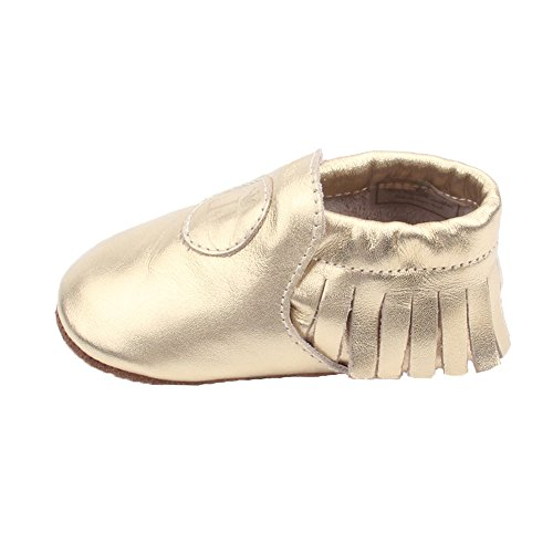 Liv & Leo Baby Boys Girls Moccasins Soft Sole Crib Shoes Slip-On 100% Leather - Classic Collection (6-12 Months, - Collection Liv