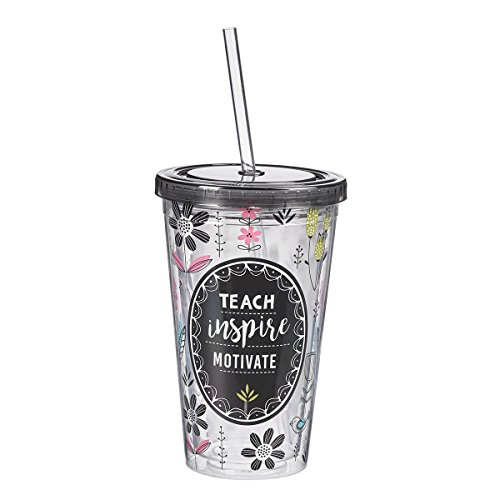 Teach, Inspire, Motivate, Insulated Tumbler, Teacher Collection