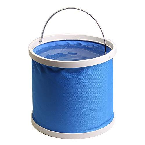 Alimao 13L Folding Bucket Multi-purpose Portable Fishing Bucket Car Wash Bucket Blue ()