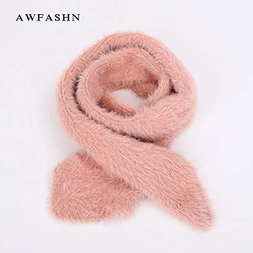 Color: White Utini 2018 New Angora Mountain Wool Knit Scarf Autumn Winter Childrens Solid Color Scarves Boy Girl Soft Baby Luxury Wraps Kids Cape
