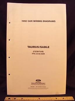 1992 ford taurus \u0026 mercury sable electrical wiring diagrams 1992 Ford F700 Wiring Diagram